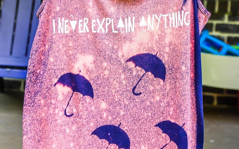 Easy Umbrella DIY Bleached Shirts
