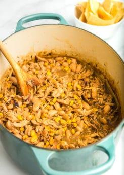 Thickened white chicken chili recipe