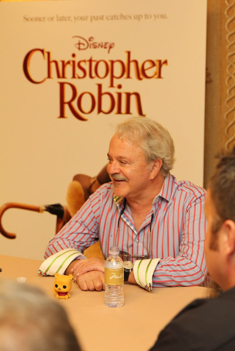 Jim Cummings laughing at something during a Christopher Robin interview