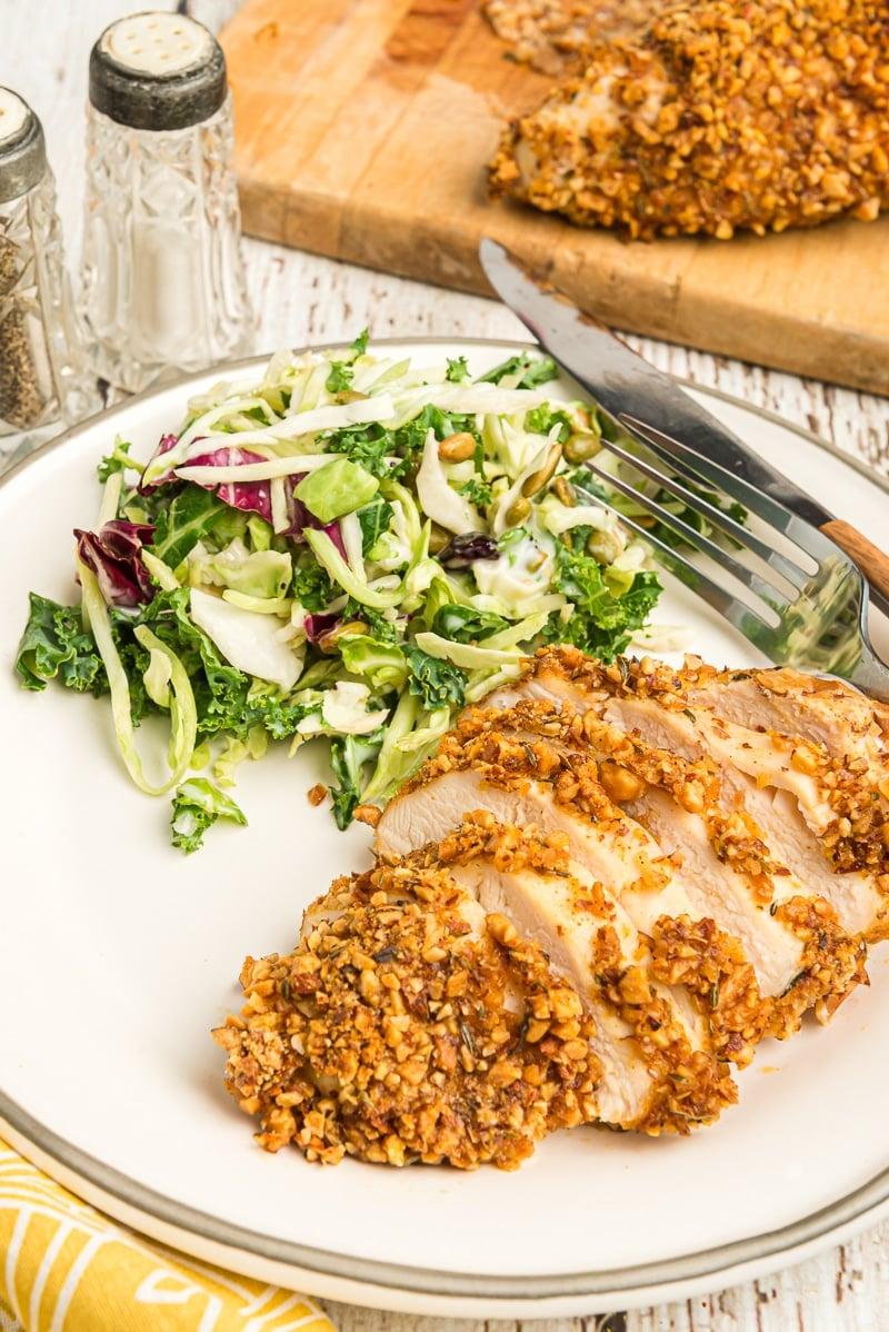 Almond chicken on a plate