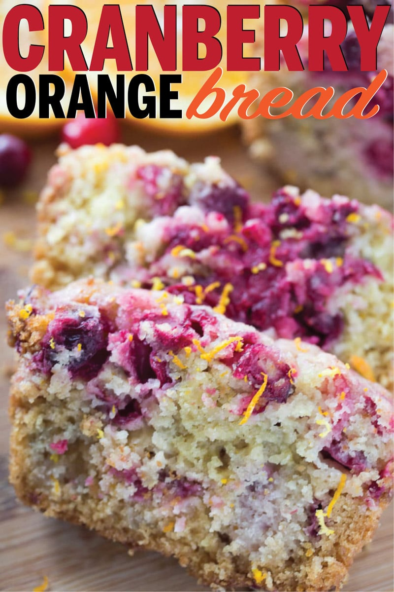 The most moist cranberry orange bread recipe ever! Easy to make mini loaves or regular loaves and seriously so good!