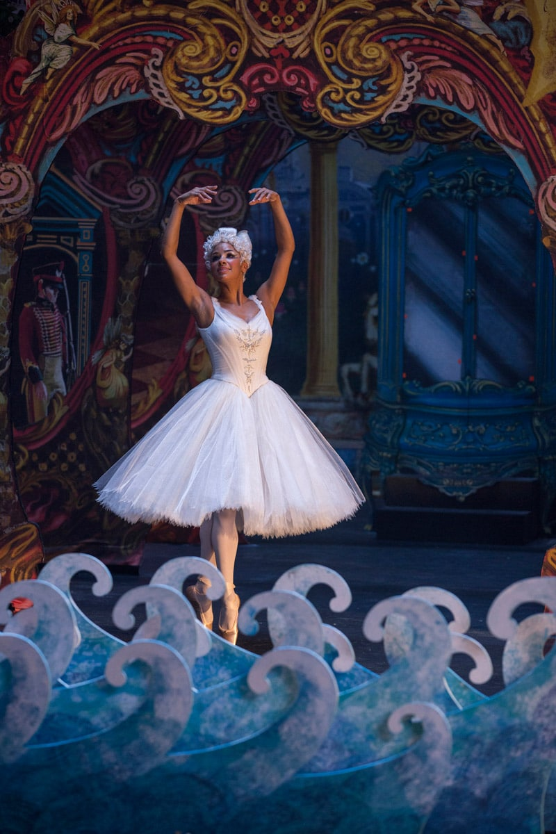 Misty Copeland dancing in the Nutcracker movie