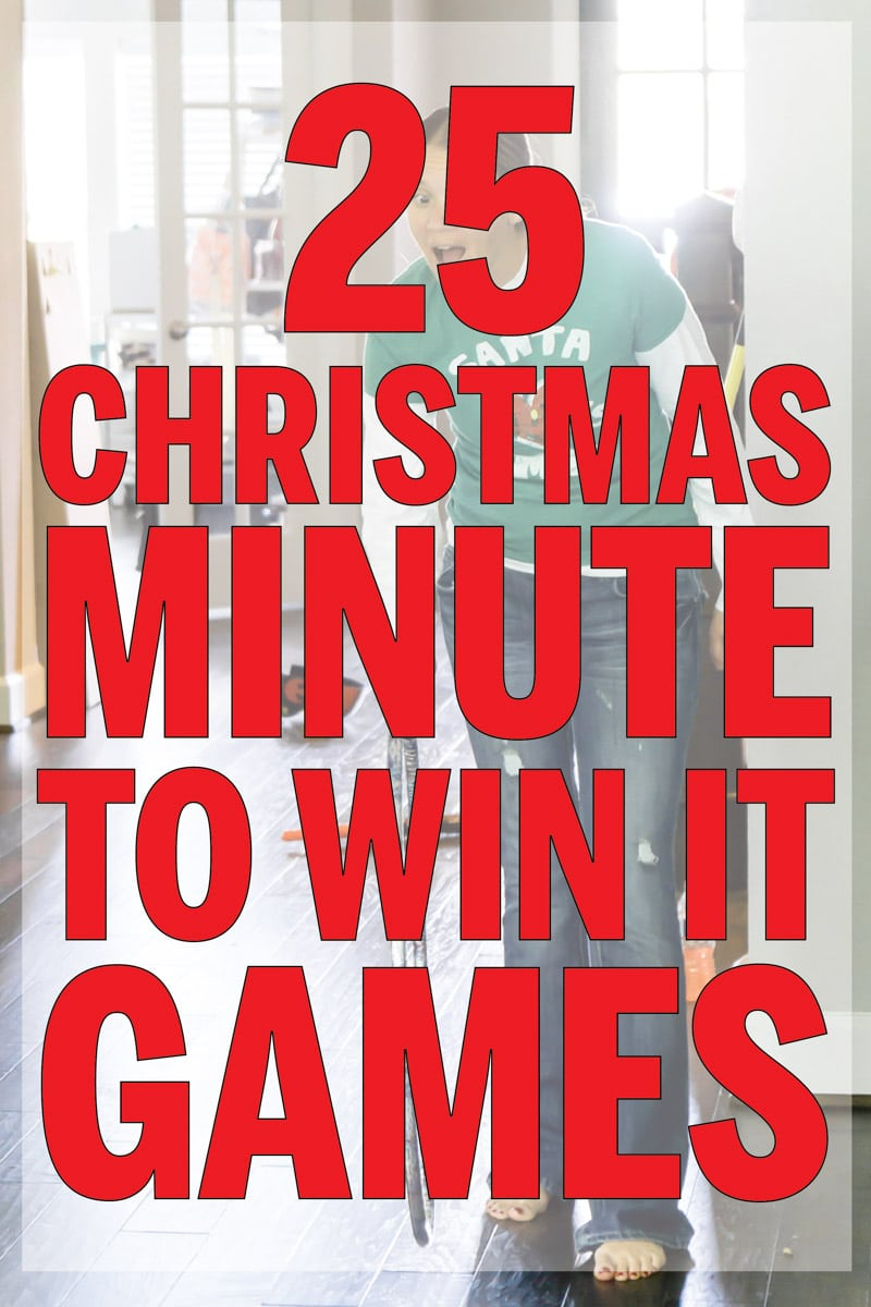 Funny Christmas games ever! Perfect for family games, for kids, or even for adults! Over 25 different minute to win it games for parties!