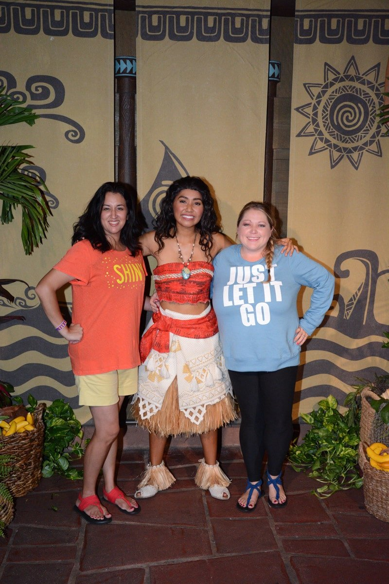 Photo with Moana at Mickey's Not So Scary Halloween Party