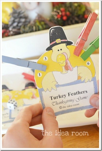 Turkey feathers Thanksgiving games