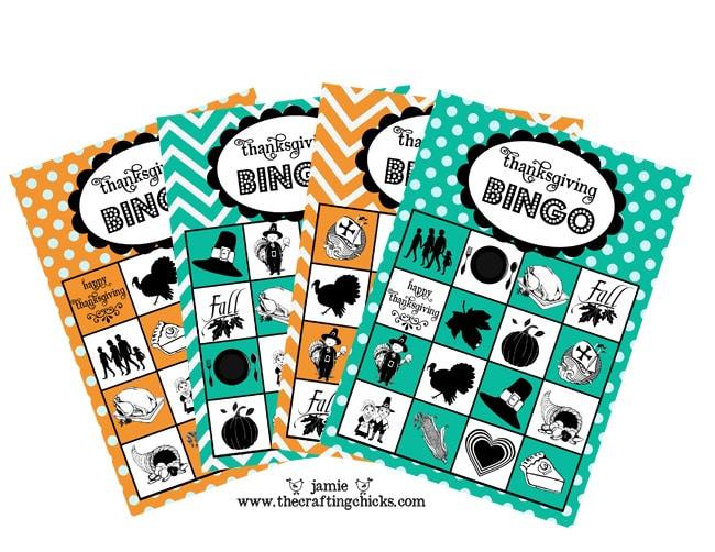 bingo Thanksgiving games