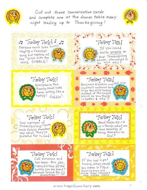 Turkey talk Thanksgiving family games