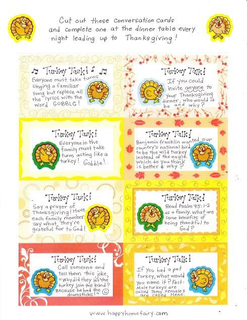 Turkey talk Thanksgiving family games
