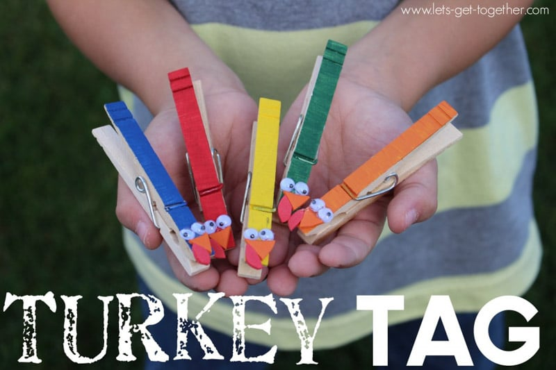 Turkey tag is one of the most fun Thanksgiving day games