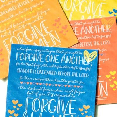 Printable Forgiveness Quotes & Handouts