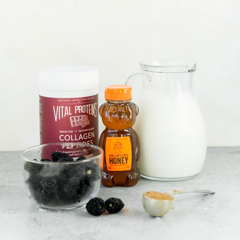 Ingredients for one of the best healthy smoothie recipes - a black chocolate smoothie
