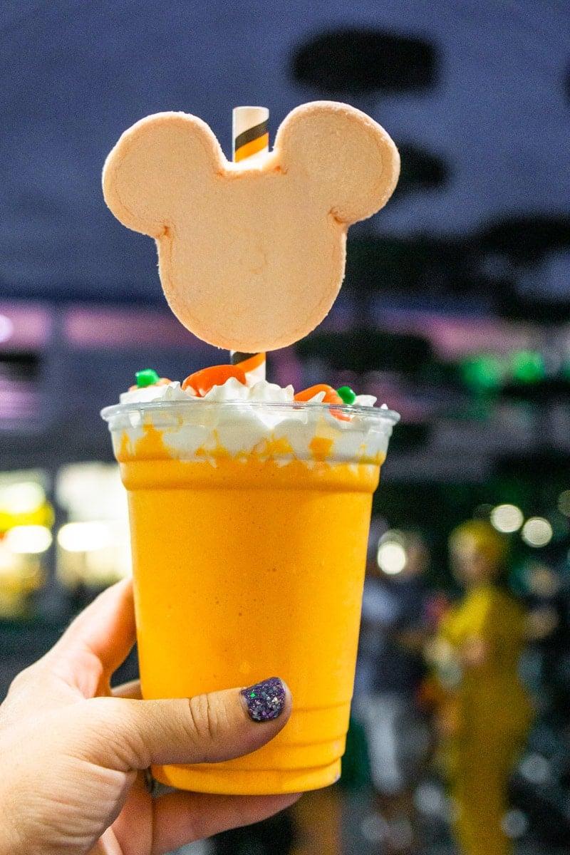 Pumpkin milkshake at Mickey's Not So Scary Halloween Party