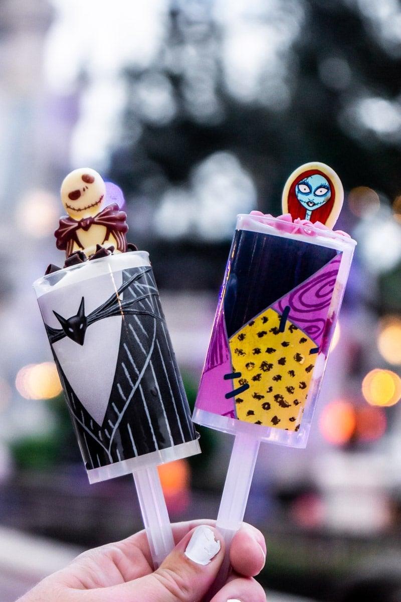 Jack & Sally Push Pops at Mickey's Not So Scary Halloween Party
