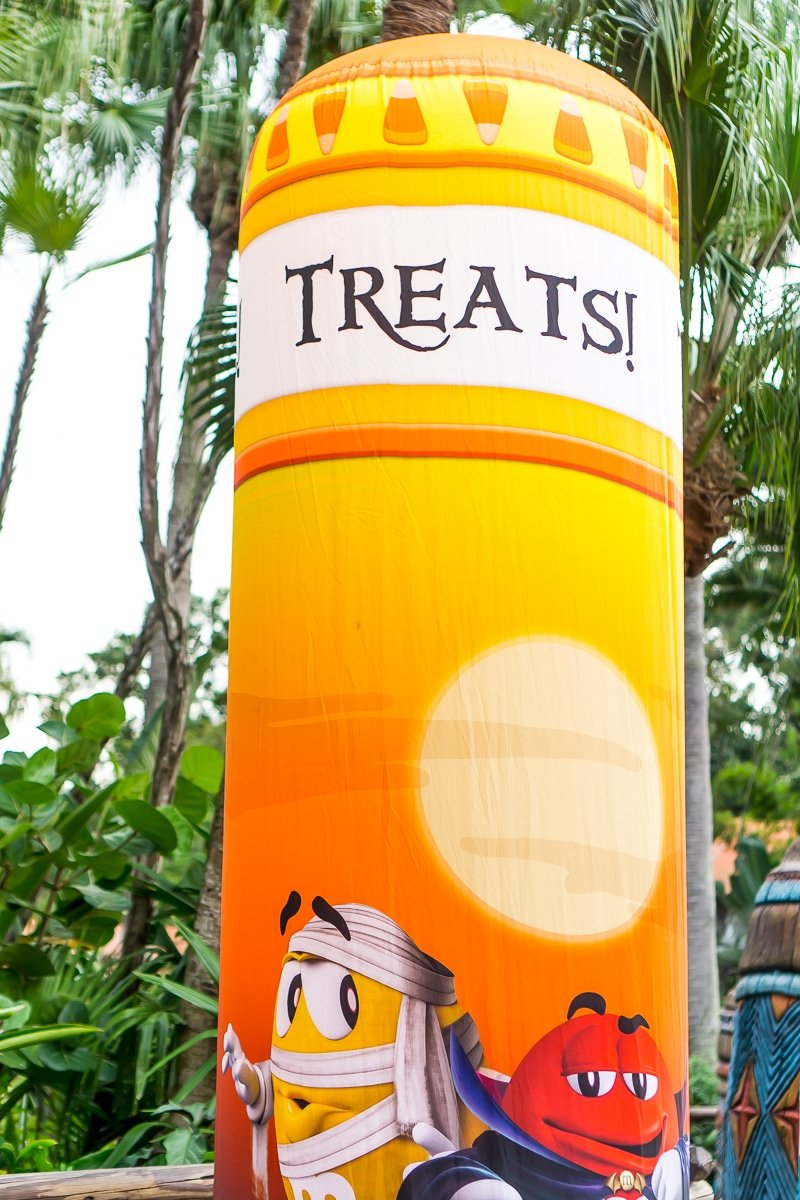 Treat station at the Mickey's Not So Scary Halloween Party