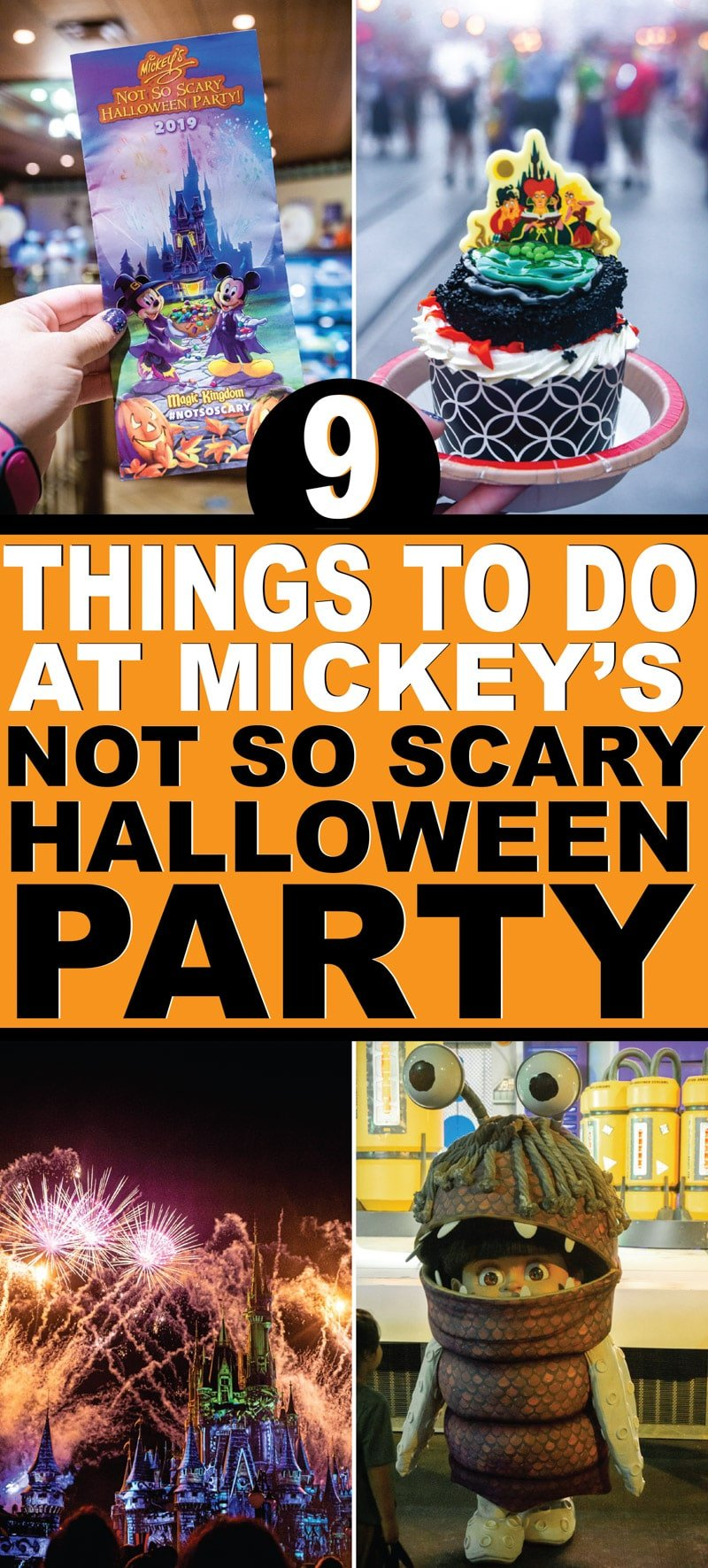The ultimate guide to the 2019 Mickey's not so scary Halloween party at Disney World! Everything from the rule on costumes, which food and desserts are best, who you can take pictures with, and of course some DIY costume and shirts you can make for the party! And don't forget all the insider tips for seeing the most characters and getting the most candy!