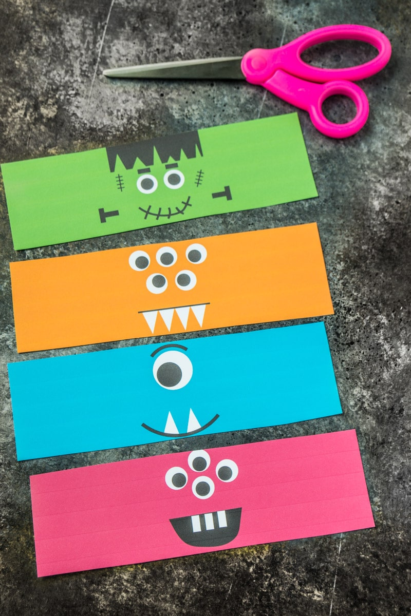 Cut out printable monster milk bottle labels