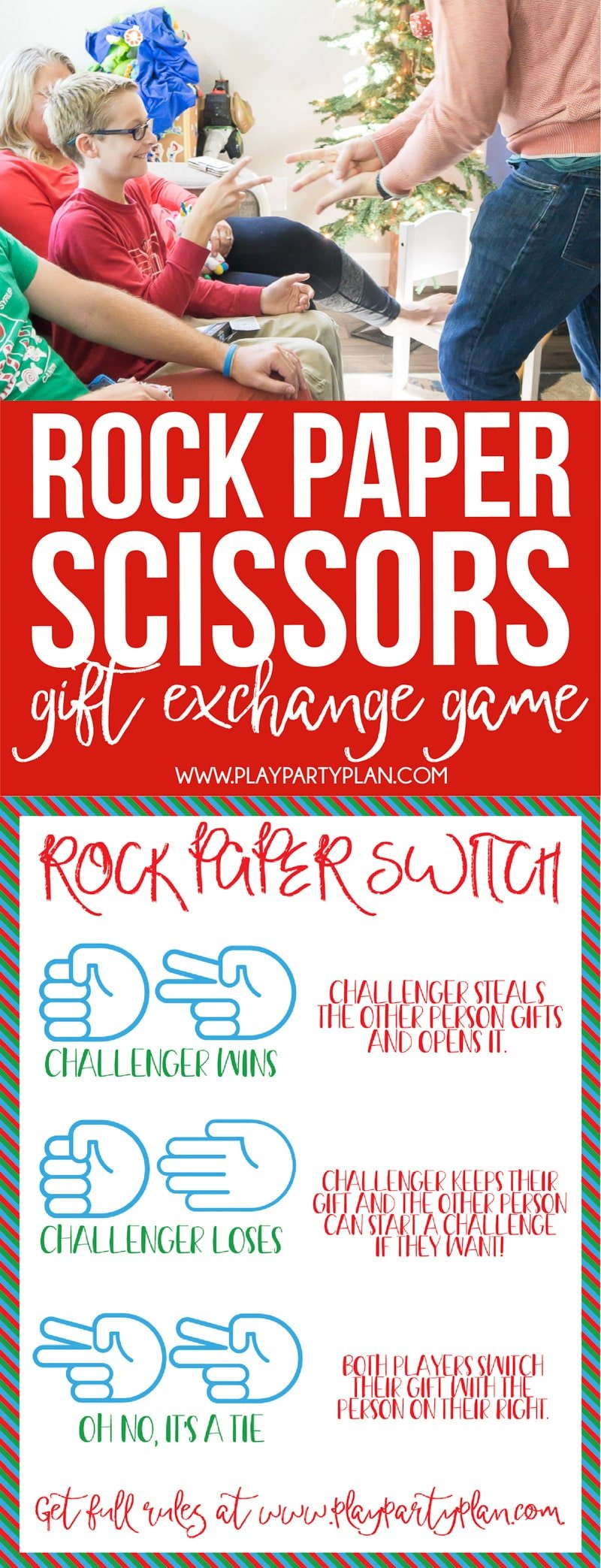 Hilarious Rock Paper Scissors Gift Exchange Game - Play Party Plan