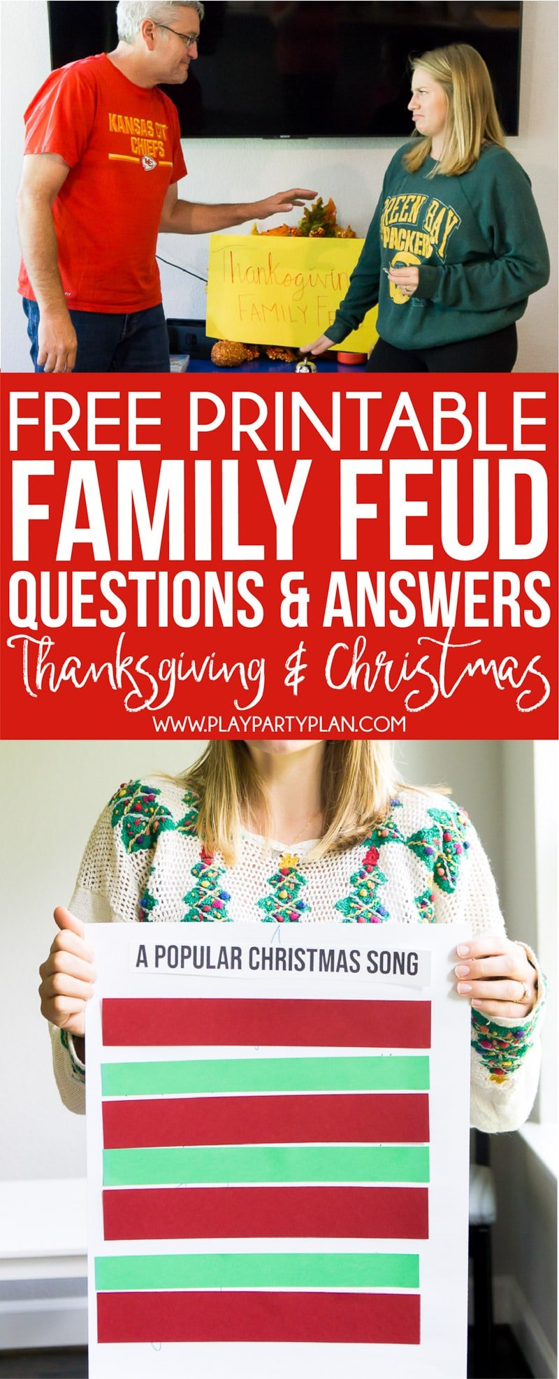 FREE Holiday Family Feud Game (Thanksgiving & Christmas