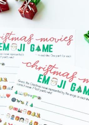 Free Printable Christmas Emoji Game