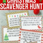 Free printable Christmas scavenger hunt clues for kids or for teens! A fun way to have kids search for presents on Christmas morning! Simply print out the riddles and go! And bonus - some fun Christmas scavenger hunt ideas for adults too!