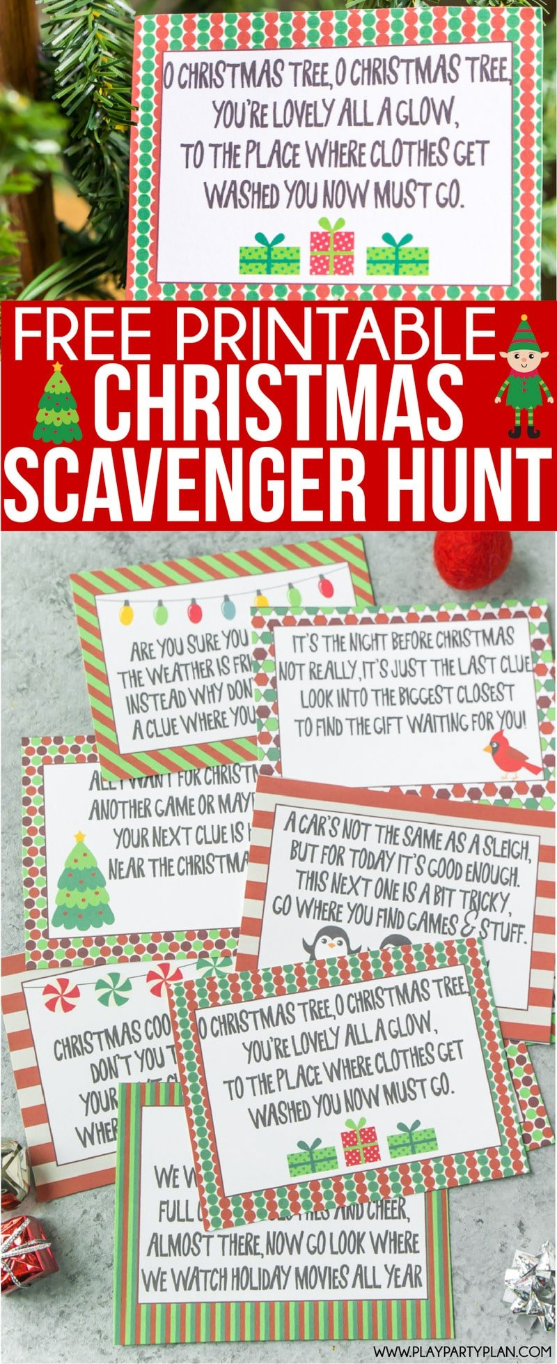 image about Christmas Scavenger Hunt Printable Clues titled Excellent At any time Xmas Scavenger Hunt - Engage in Occasion Method