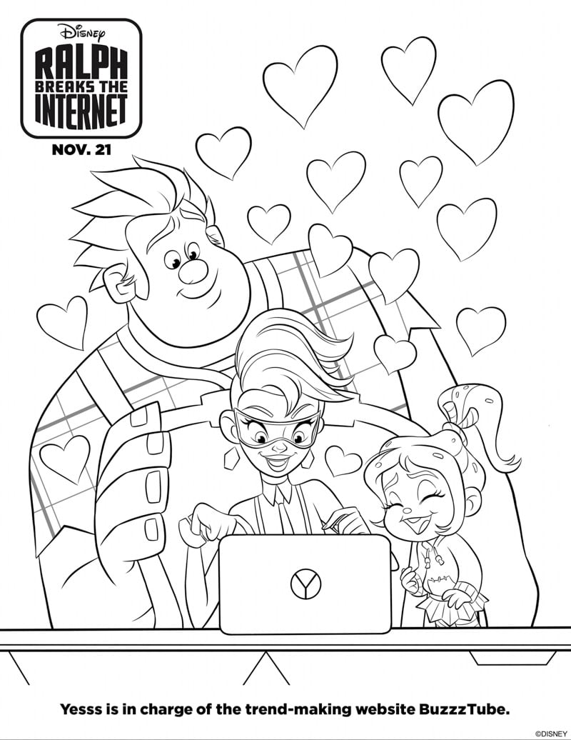 Printable Wreck it Ralph Coloring pages and activities