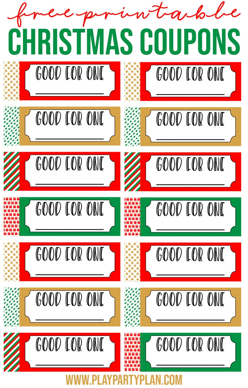 Free printable Christmas coupons make perfect gifts for grandparents