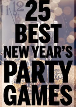 The best New Year's Eve party games! Great ideas for kids, adults, teens, and couples to play all night long!