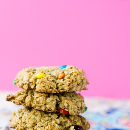 Easy trail mix breakfast cookies packed with protein