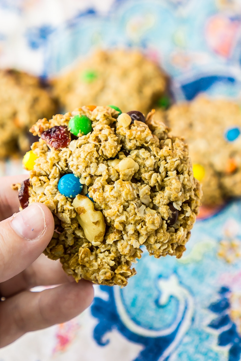 Adding too many ingredients can make breakfast cookies crumble