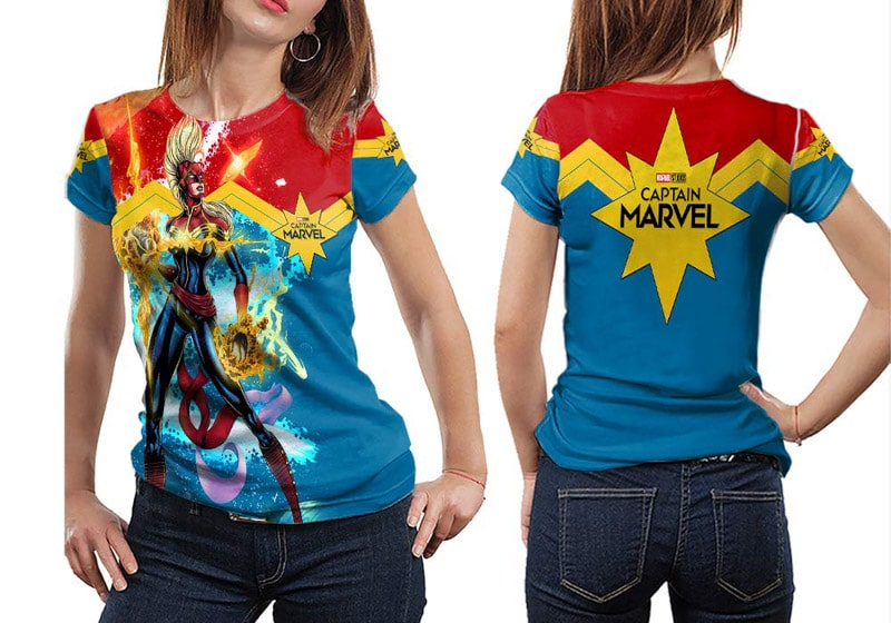 The Best Captain Marvel Costume Ideas Play Party Plan If any of you plan on doing this project, be sure to get stretchy red fabric for the shirt. the best captain marvel costume ideas
