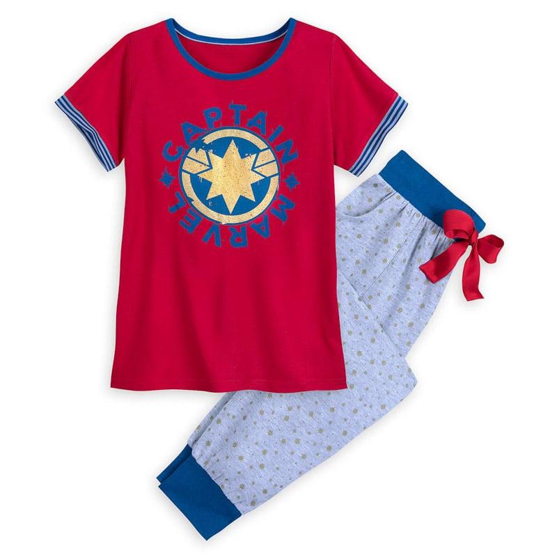 Captain Marvel pajamas make a great Captain Marvel costume