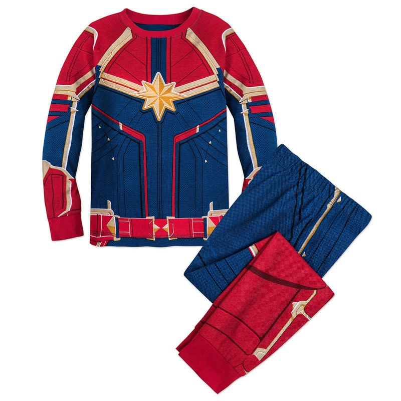 Captain Marvel pajamas that would work as a Captain Marvel costume