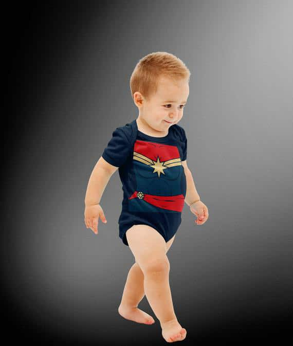 Captain Marvel costume for babies