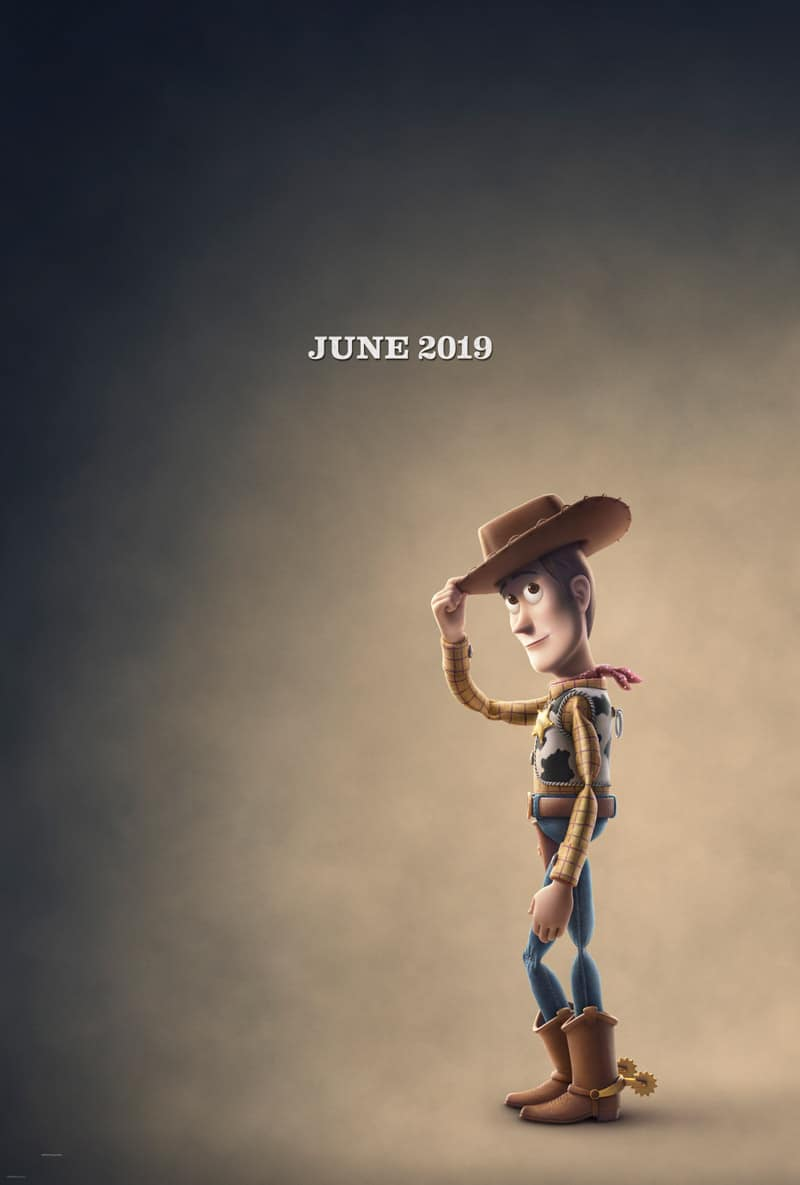 Toy Story 4 movie poster and a list of DIsney movies coming out in 2019