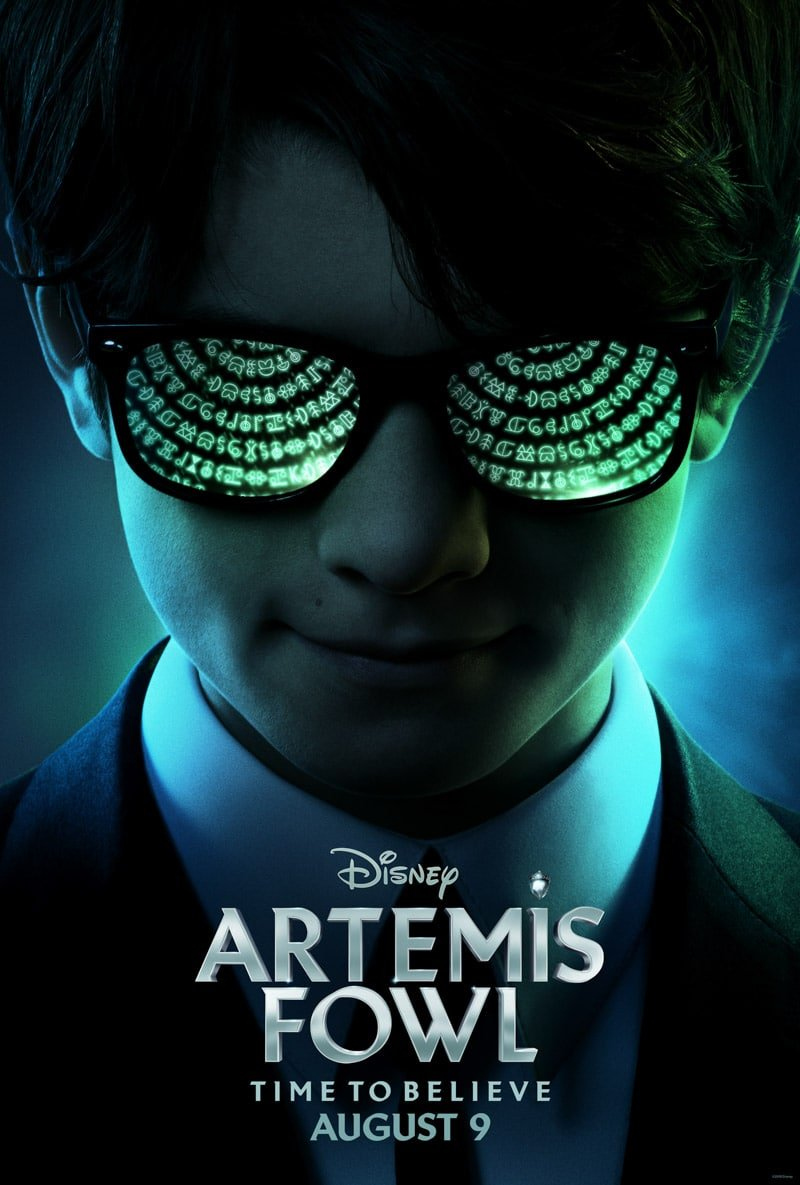 Artemis Fowl poster and a list of Disney movies coming out in 2019