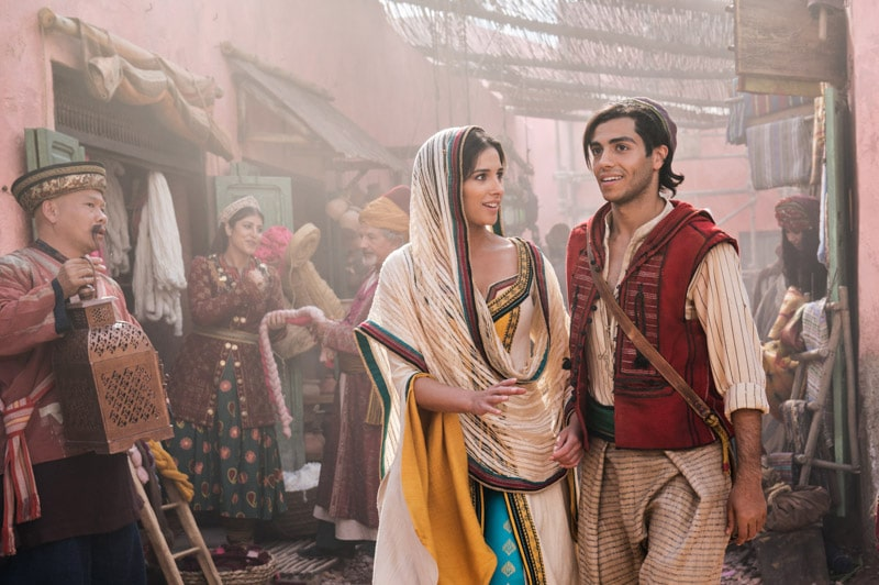 Aladdin and Jasmine photo in a list of Disney movies coming soon