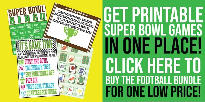 picture regarding Super Bowl Party Games Printable known as 25 of the Great Tremendous Bowl Social gathering Video games for Enthusiasts of All Ages!