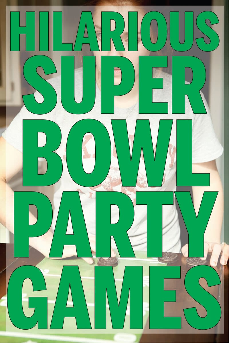 Hilarious Super Bowl minute to win it games! Perfect for kids or for adults to play while watching the big game, halftime, or before the game!