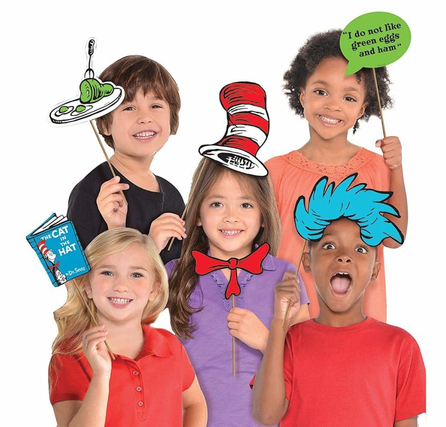 Dr Seuss photo booth props and other Dr Seuss day activities