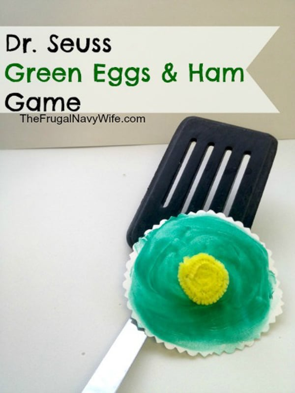 Green Eggs and ham flipping and other Dr Seuss games