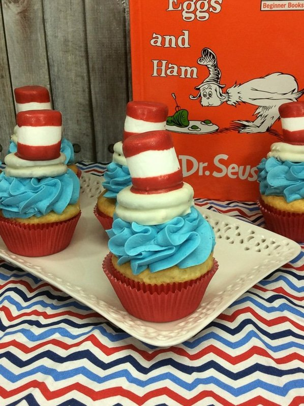 Dr Seuss cupcakes and other Dr Seuss Day activities
