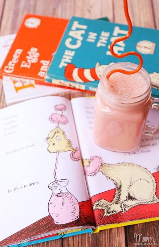 Pink Ink Drink and other Dr Seuss activities