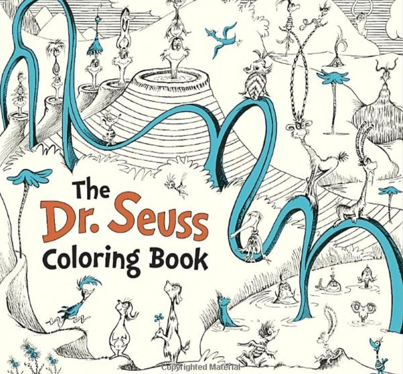 Dr Seuss coloring pages in a Dr Seuss coloring book