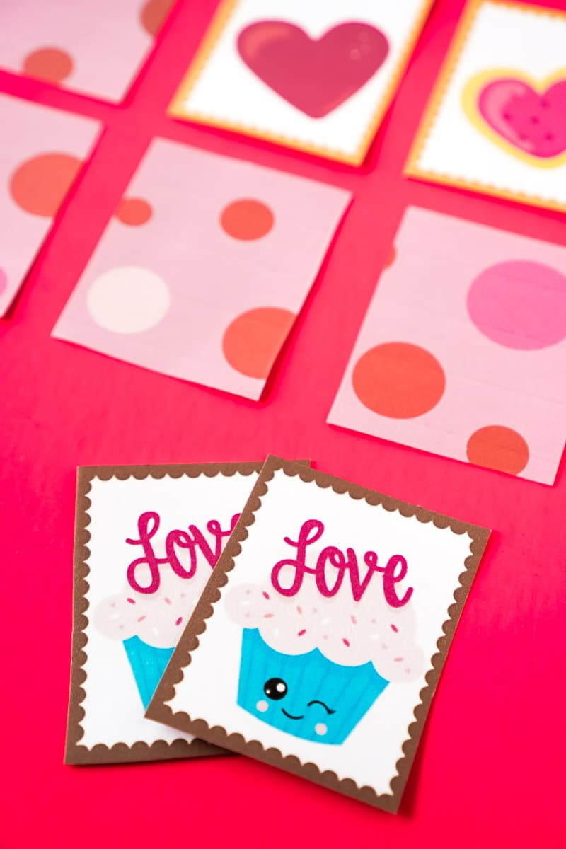 Printable Valentine memory games for kids