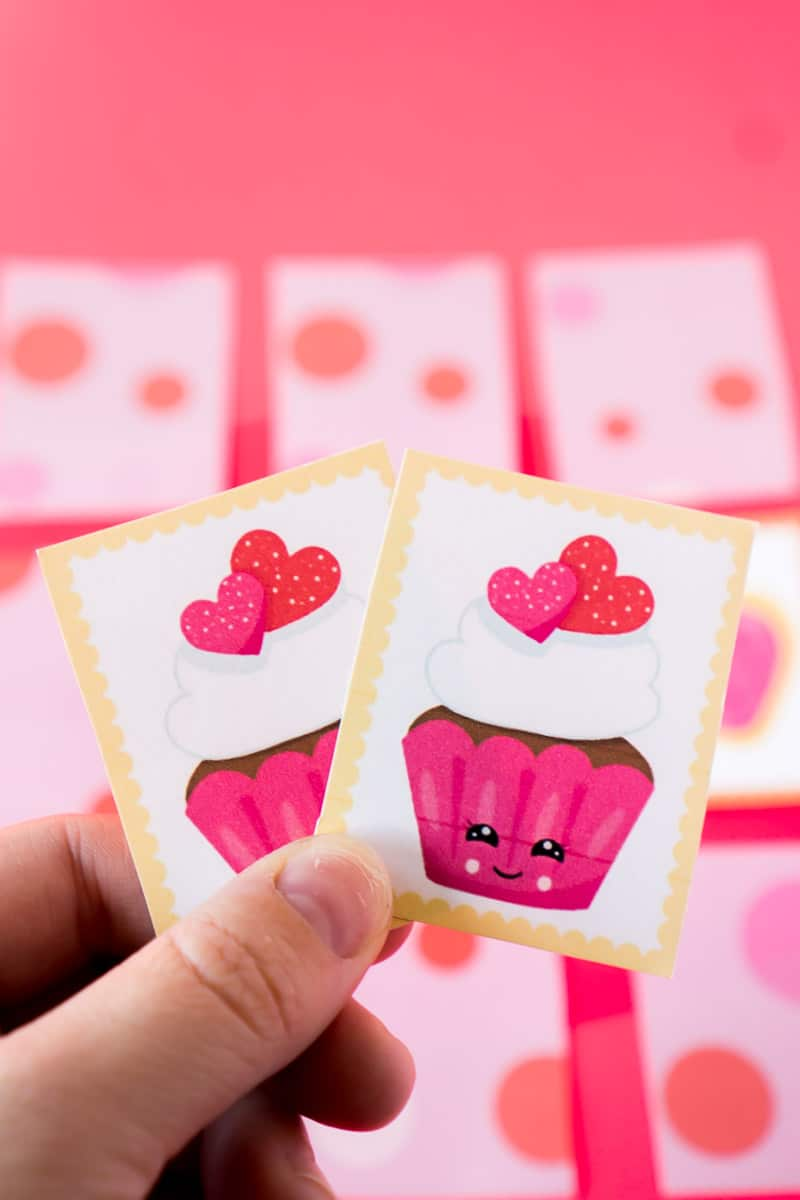 A match found in this Valentine's Day memory game