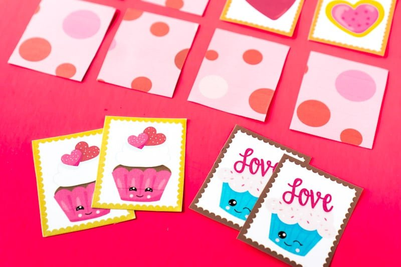 Cute Valentine's Day memory games for kids