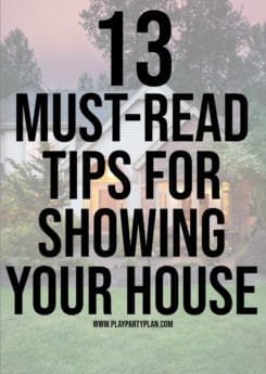 Getting ready to sell your house? Use these great tips for storage, home staging, living in the house for sale with kids, and even a printable showing checklist that'll help you get the house ready in a moment's notice! Tons of awesome ideas to make showing your house a bit easier!