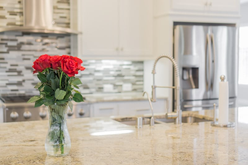 Fresh flowers in a kitchen and other tips for showing your home