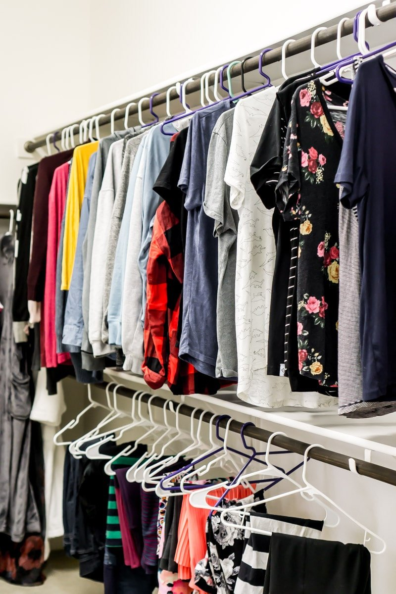 Clothes hanging up and great tips for showing your house